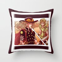 jjba Throw Pillows featuring what did you just do to me? by vvisti