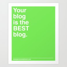 Best Blog Art Print