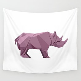 Origami Rhino Wall Tapestry