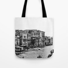 Along the Grand Canal b&w Tote Bag