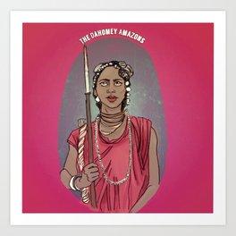 The Dahomey Amazons Art Print
