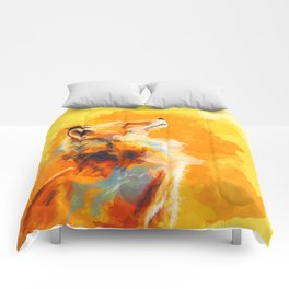 Blissful Light - Fox portrait Comforters