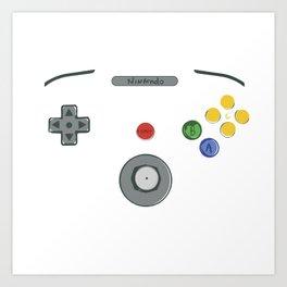 I love my N64! Art Print