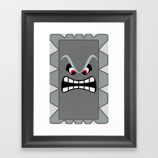 Minimalist Thwomp Framed Art Print