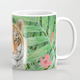 Tiger with flowers Coffee Mug