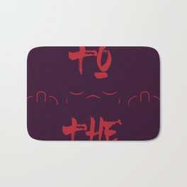 Talk to the hand typography Bath Mat