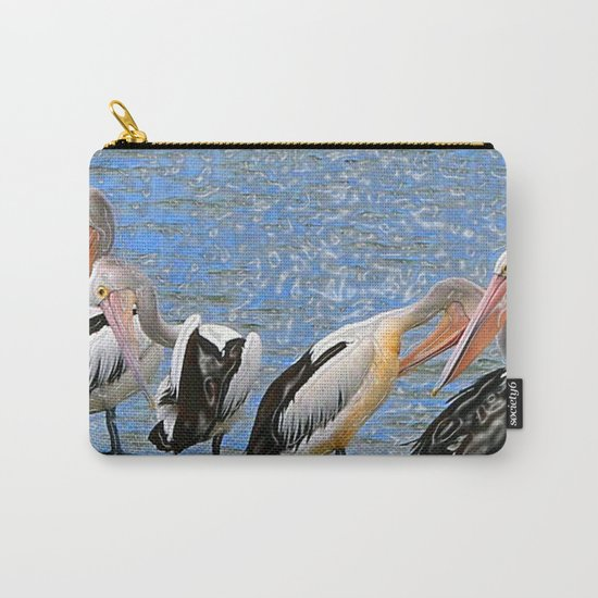 Pelicans in a Row Carry-All Pouch