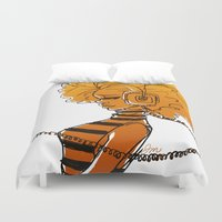 old school Duvet Covers featuring Old School by Joelle Murray