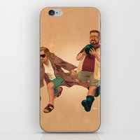 the big lebowski iPhone & iPod Skins featuring Big Lebowski by Dave Collinson