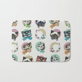 Cats & Bowties Bath Mat