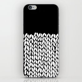 Half Knit  Black iPhone Skin