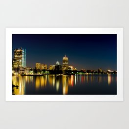 Nightfall On The Charles River Art Print