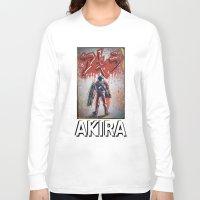akira Long Sleeve T-shirts featuring Akira by Joe Badon