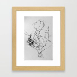 time victim Framed Art Print