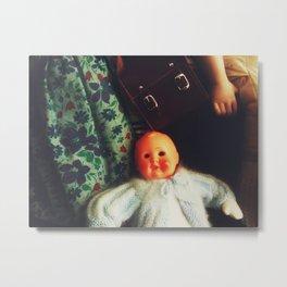 Baby Eyeless Metal Print