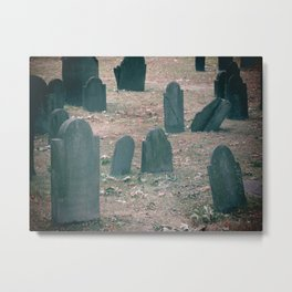 Spooky Little Graveyard Metal Print