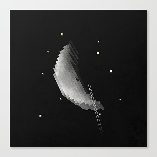 building the moon for you Canvas Print