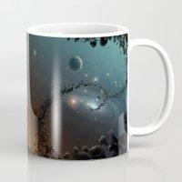 big bang Mugs featuring Big Bang by SwanniePhotoArt