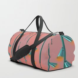 Mid Century Illumination - Teal Coral and Orange Palette Duffle Bag