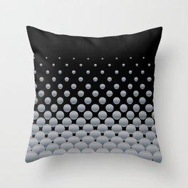Grey Ball Background Throw Pillow
