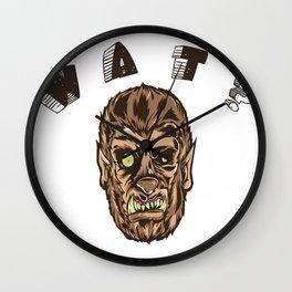 Werewolf's Daze Wall Clock