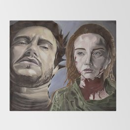 Abigail and Will 2., acrylic painting Throw Blanket