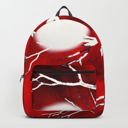 Tree Branches in a Red Night Sky Backpack