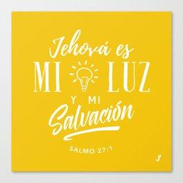 Mi luz y salvación Canvas Print