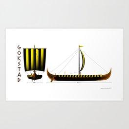 Gokstad Viking Ship Art Print