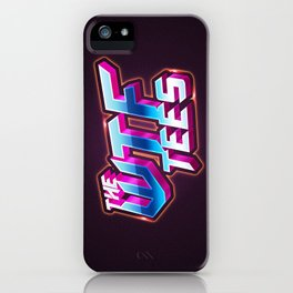 WTF tees iPhone Case