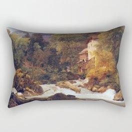 Ferdinand Georg Waldmüller Mill Outlet of Königsse Rectangular Pillow