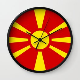 Macedonian national flag Wall Clock