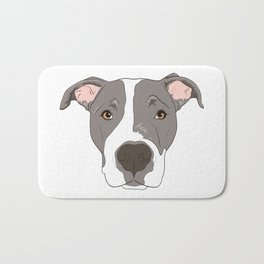 Pitbull Portrait Bath Mat
