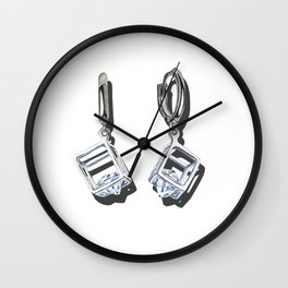Favorite earrings Wall Clock