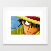 one piece Framed Art Prints featuring one piece by ItsFahmi