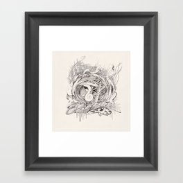 abstract doodle #2 Framed Art Print