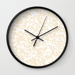 Small Spots - White and Champagne Orange Wall Clock