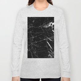 Black and White Marble Long Sleeve T-shirt
