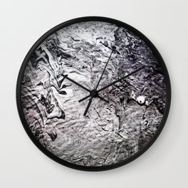 Black Lava III Wall Clock