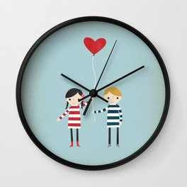 Love is in the Air - Girl Wall Clock