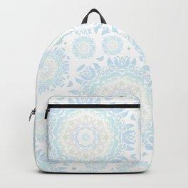 light blue mandalas pattern Backpack