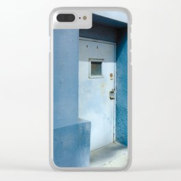Blue Street Abstracts 7 Clear iPhone Case