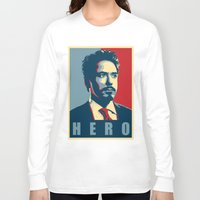 house stark Long Sleeve T-shirts featuring Tony Stark by Cadies Graphic
