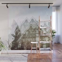 san francisco double exposure, gothic edit Wall Mural