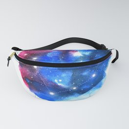 Pisces Zodiac Sign - Watercolor Star Constellation Fanny Pack