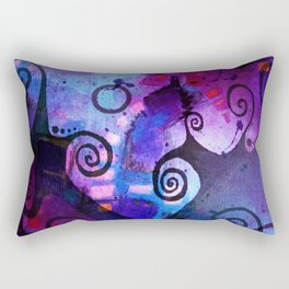 Midnight In My Mind Rectangular Pillow