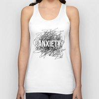 anxiety Tank Tops featuring anxiety by petrsvetr