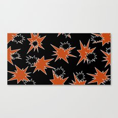 Stars (Orange & Black on Black) Canvas Print