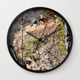 Climbing Up Sparrowhawk Mountain above the Illinois River, No. 4 of 8 Wall Clock