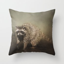 Midnight Marauder Throw Pillow